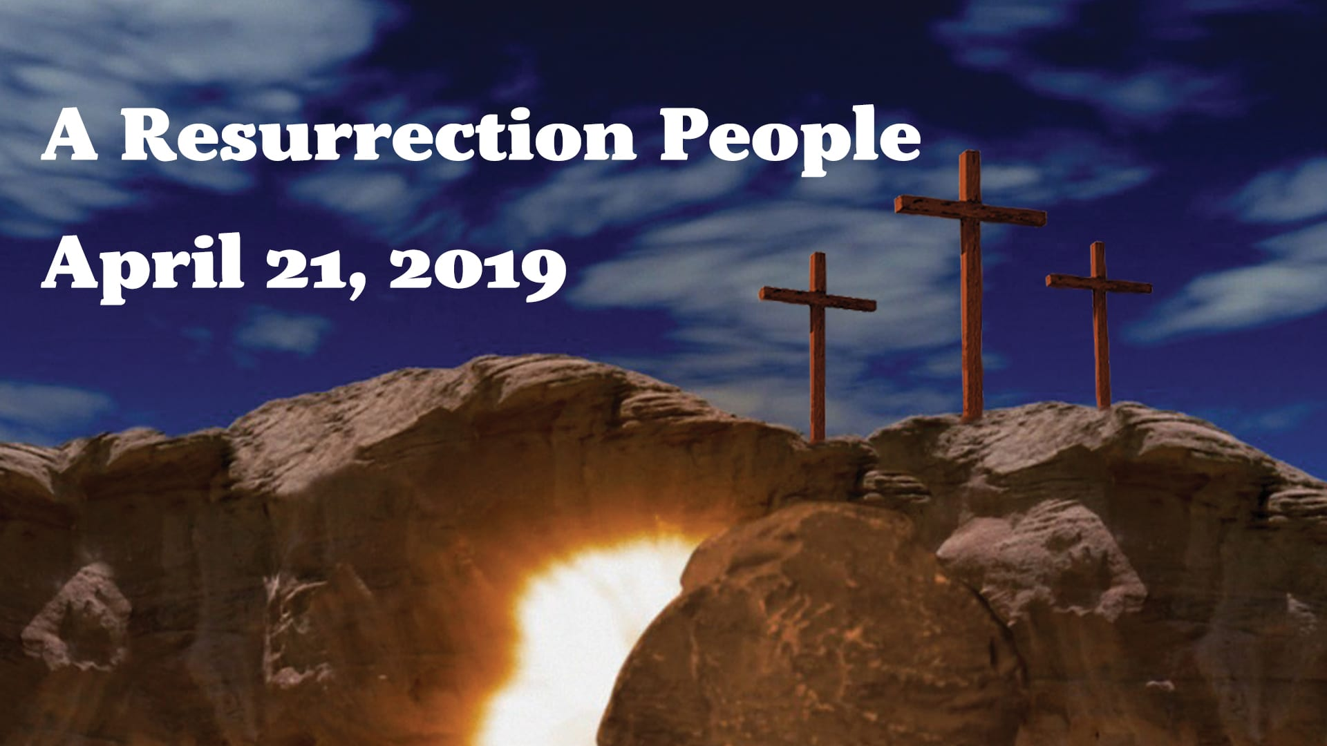 Resurrection People - Easter 2019